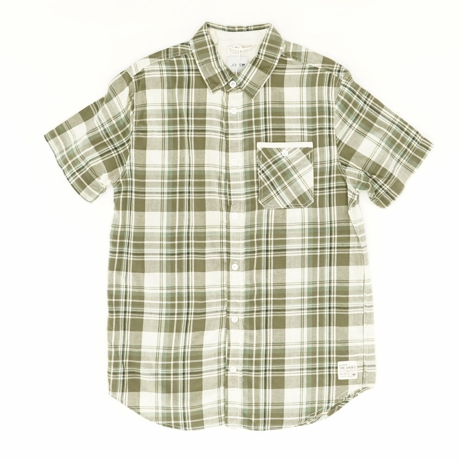 Olive Plaid Button Down Size L
