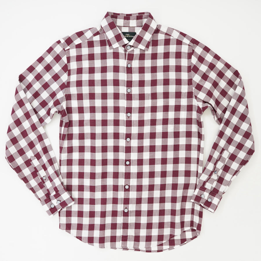 Flints Bush Long Sleeve Sport Fit Button Down Shirt
