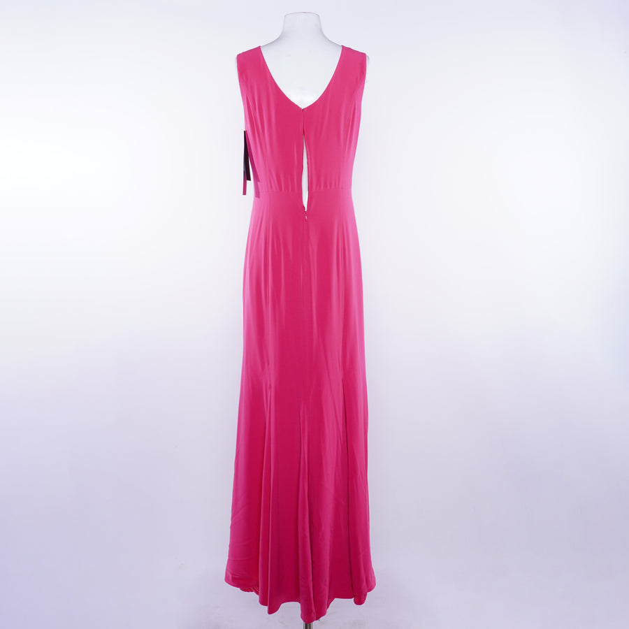 Boatneck Crepe Gown - Size 8