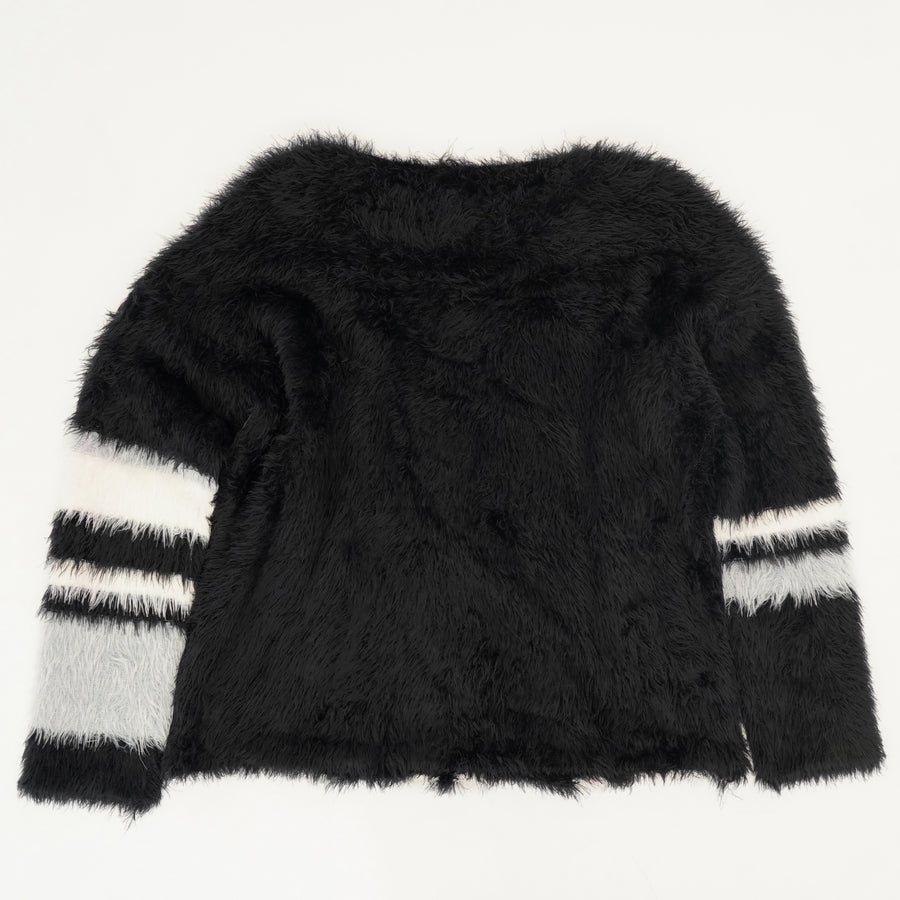 Faux Fur Stretchy Pullover Sweater Size M