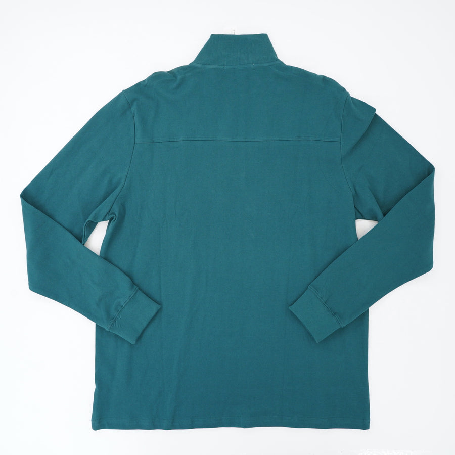 Teal Quarter Zip Pullover With Pocket Size XL