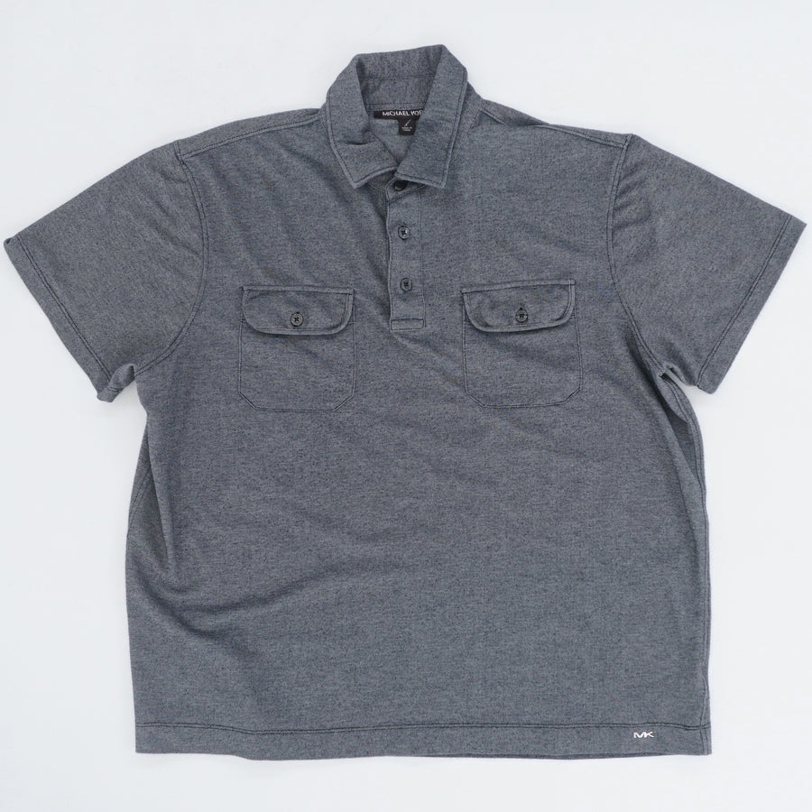 Textured Stretch Polo Shirt - Size L
