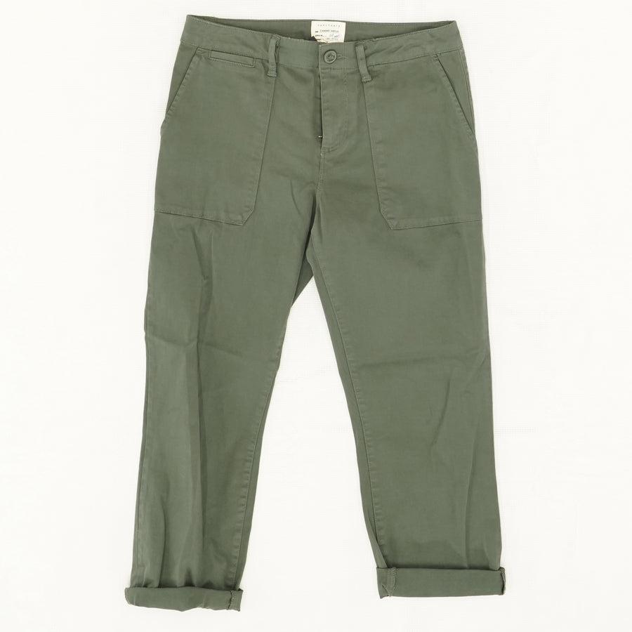 Peace Green Cropped Chino Pants Size 26, 32