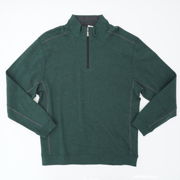 Green Quarter Zip Pullover Size XL