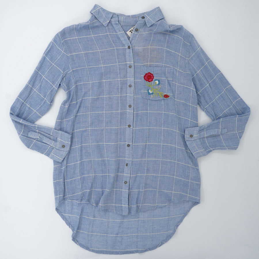Stitched Embroidery Button Down