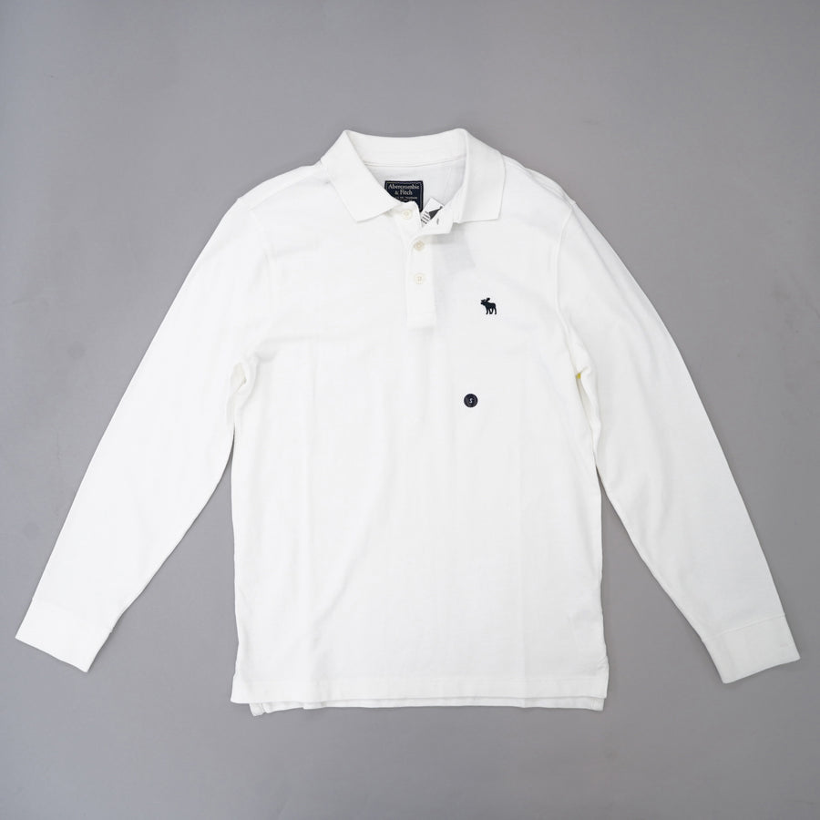 Long Sleeve Stretch Polo Size S