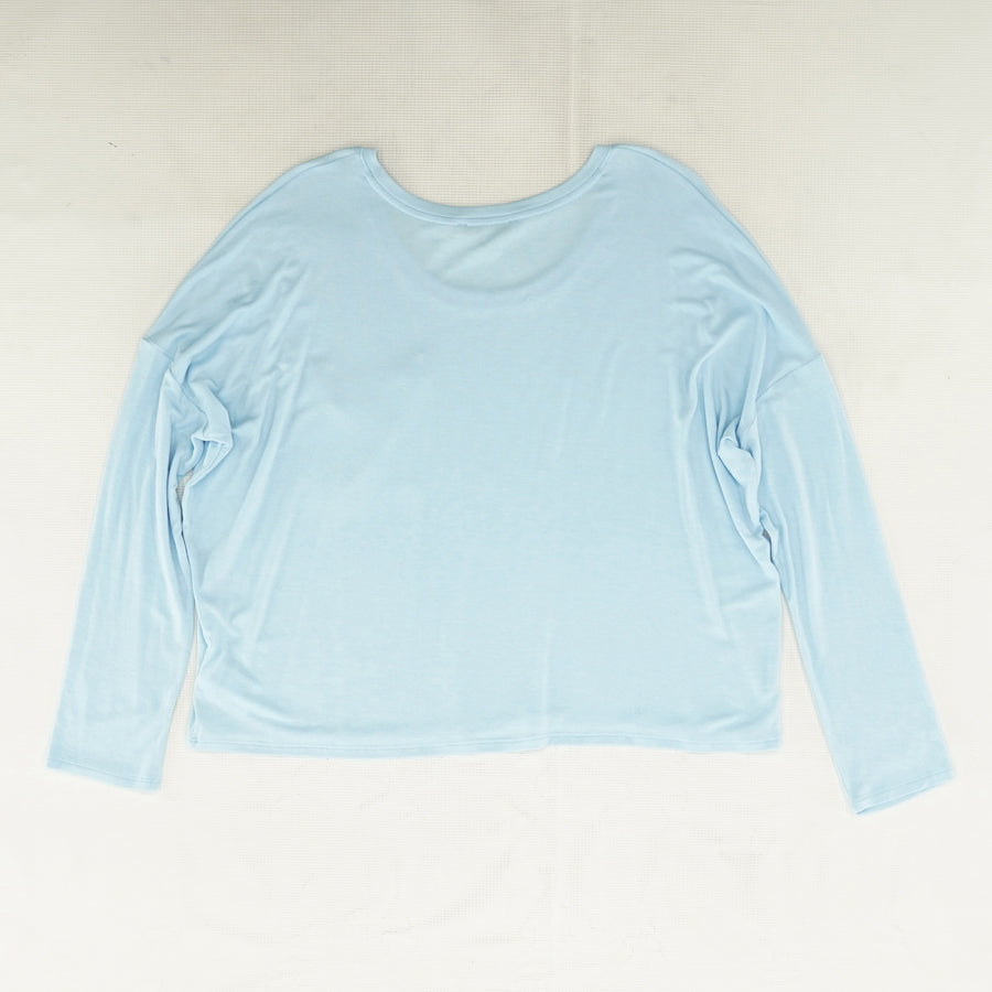 Blue Long Sleeve Pocket Tee - Size L