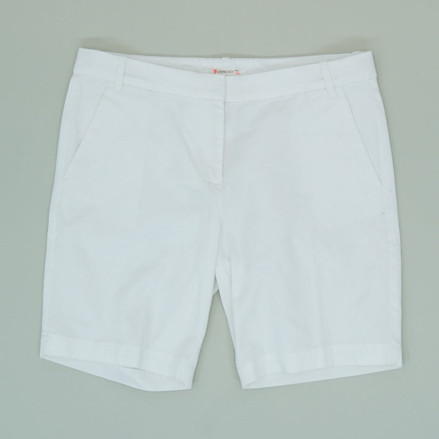 White Solid Shorts - Size 16