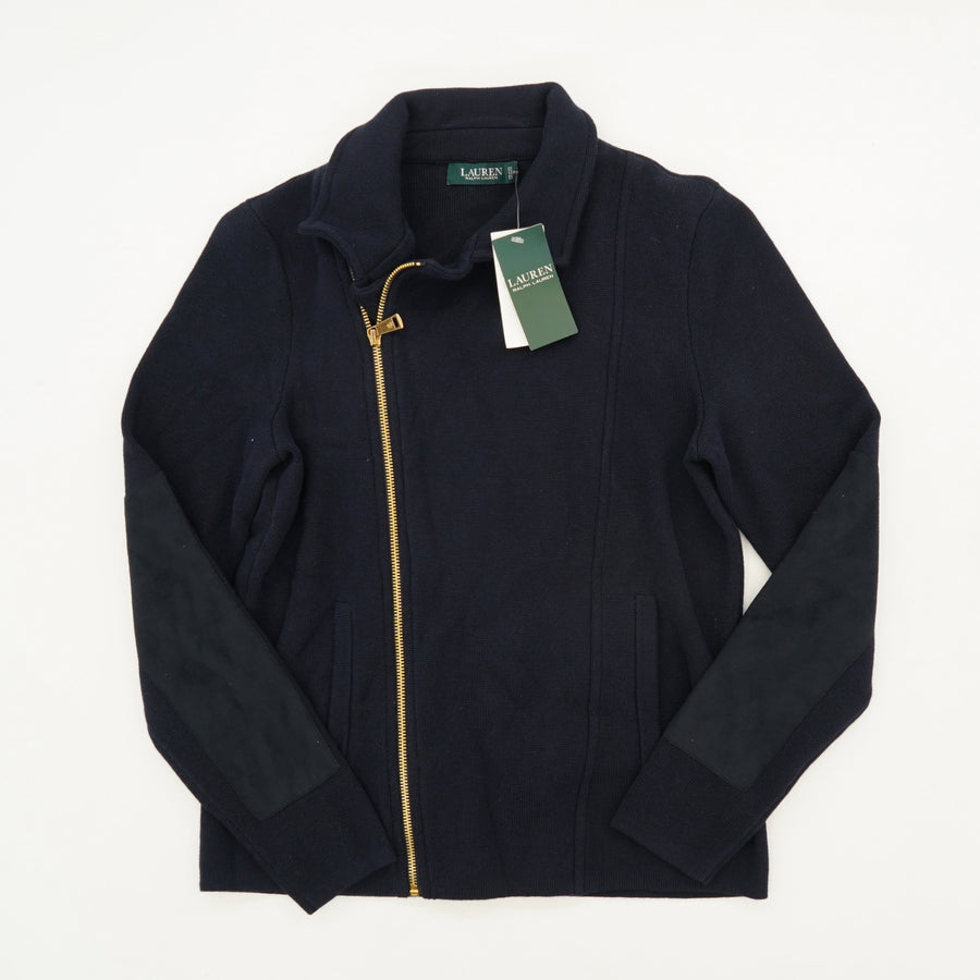 Off To The Side Zip Moto Jacket Size L