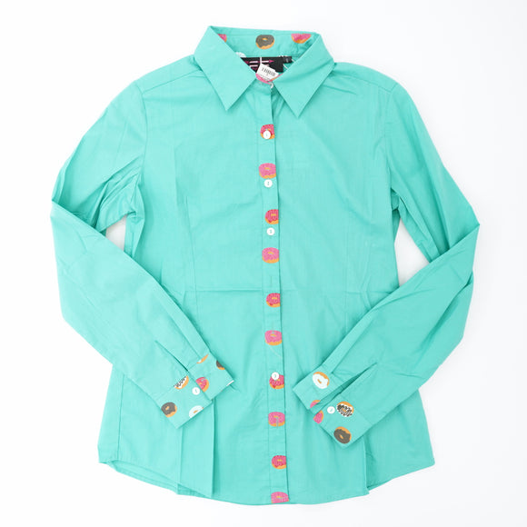 Donut Button Down Blouse Size S