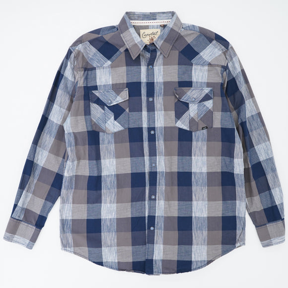 Coast Plaid Snap Shirt Size XXL
