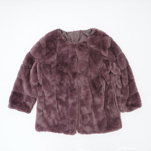Grape Faux Fur Jacket Size L