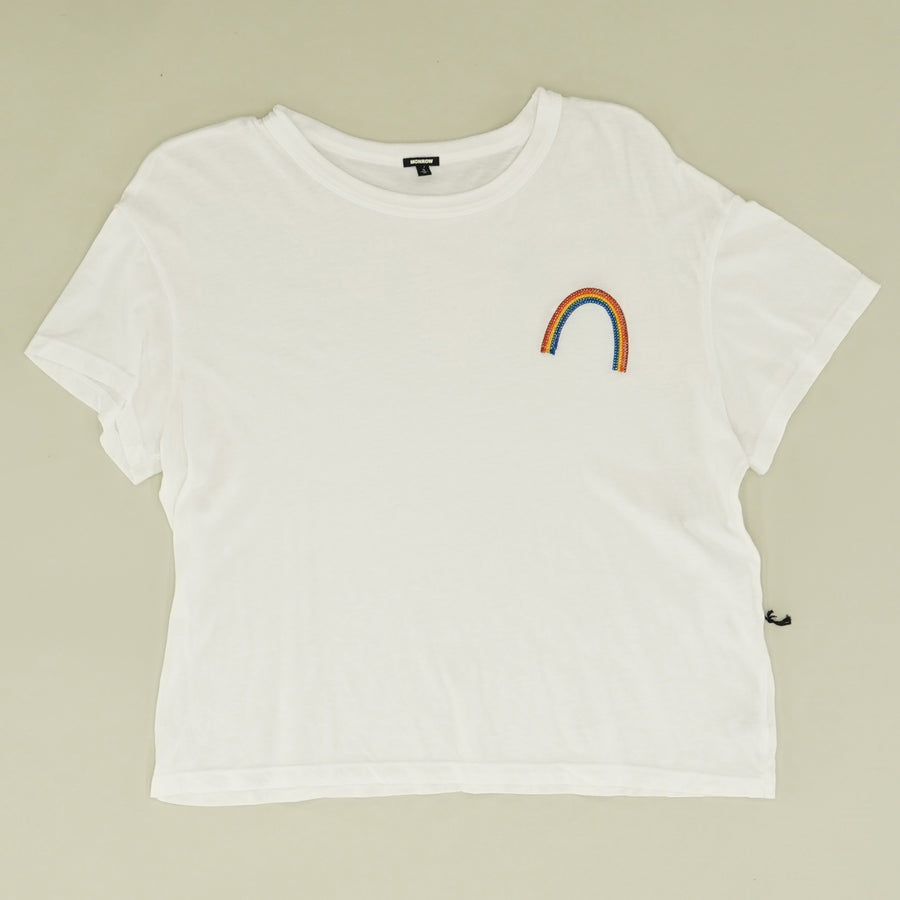 Vintage Tee With Rainbow Embroidery - Size S