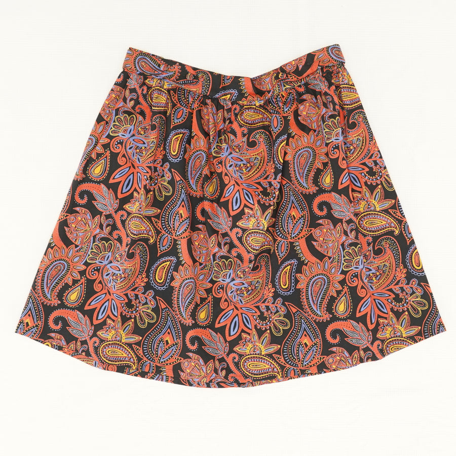 Bailee Button Skirt In Paisley - Size S, M, XL