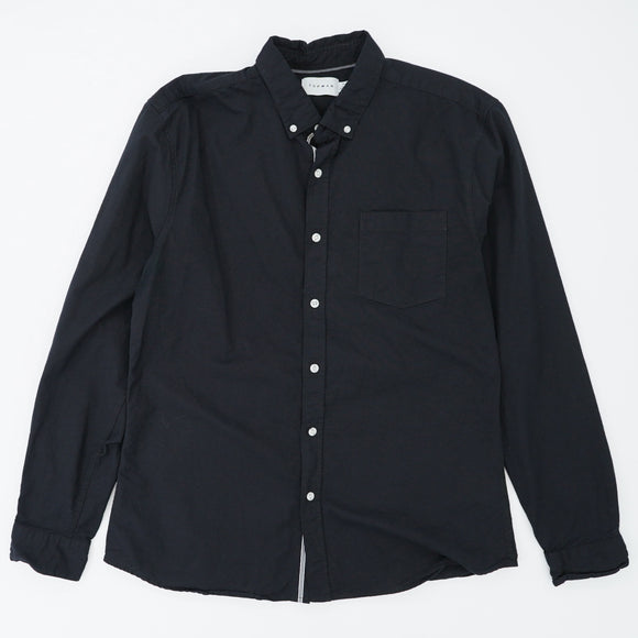 Deep Black Button Down Shirt Size XL