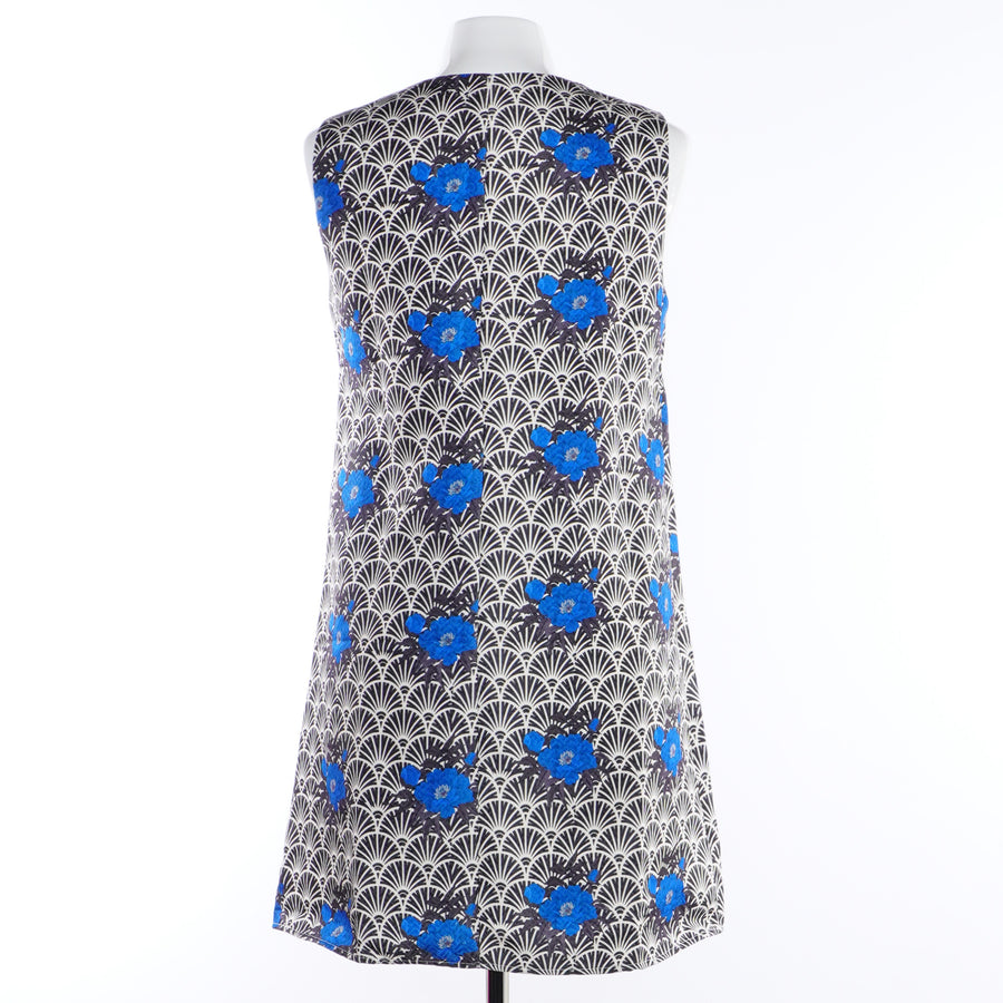 Printed V-Neck Dress - Size M