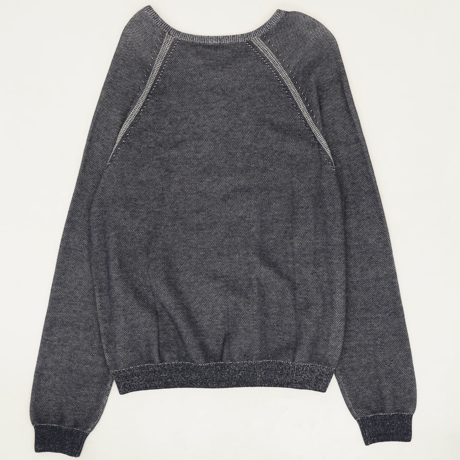 Relaxed V-Neck Knit Sweater Size M & XL