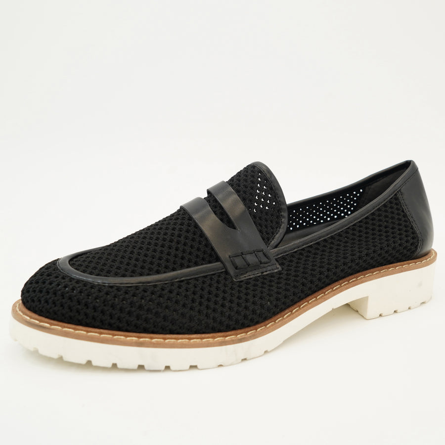 Black Mesh Loafers Size 9