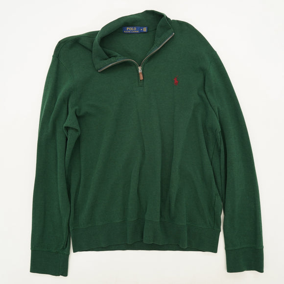 Quarter-Zip Collared Pullover Size L