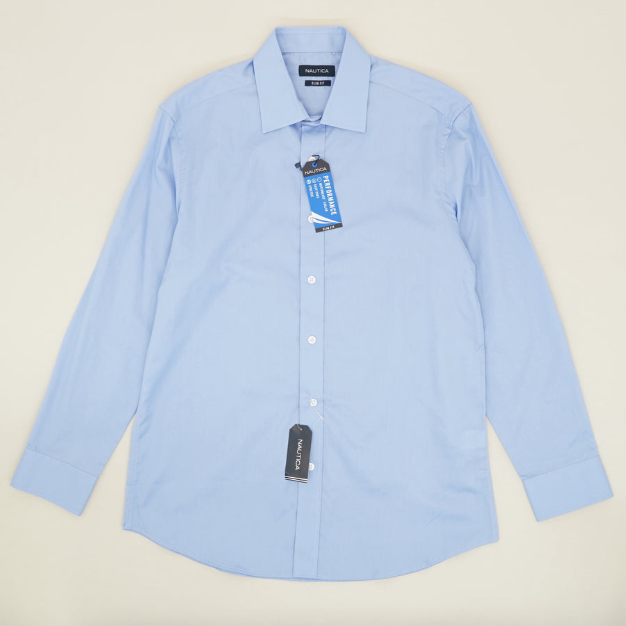 Blue Slim Fit Button Down - Size M, L