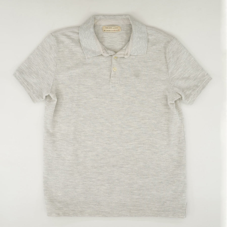 Heathered Short Sleeve Polo Size 13/14