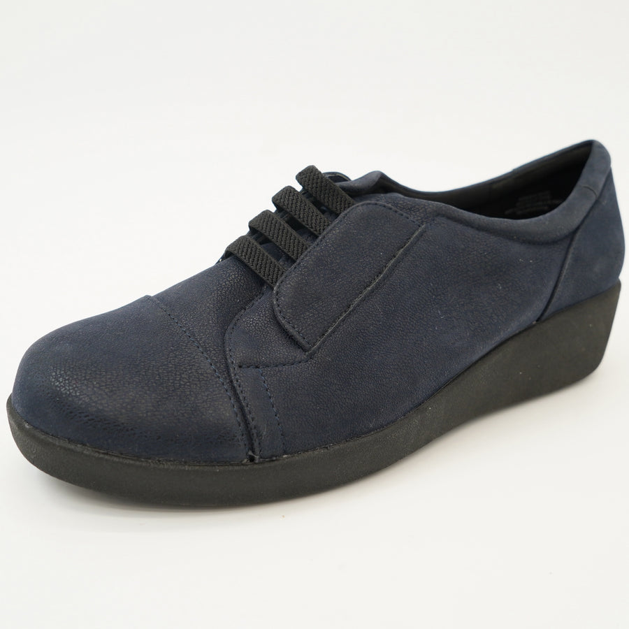 Strap Front Navy Oxfords Size 7