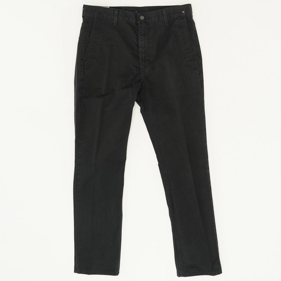 Black Solid Casual Pants - Size 34W 32L