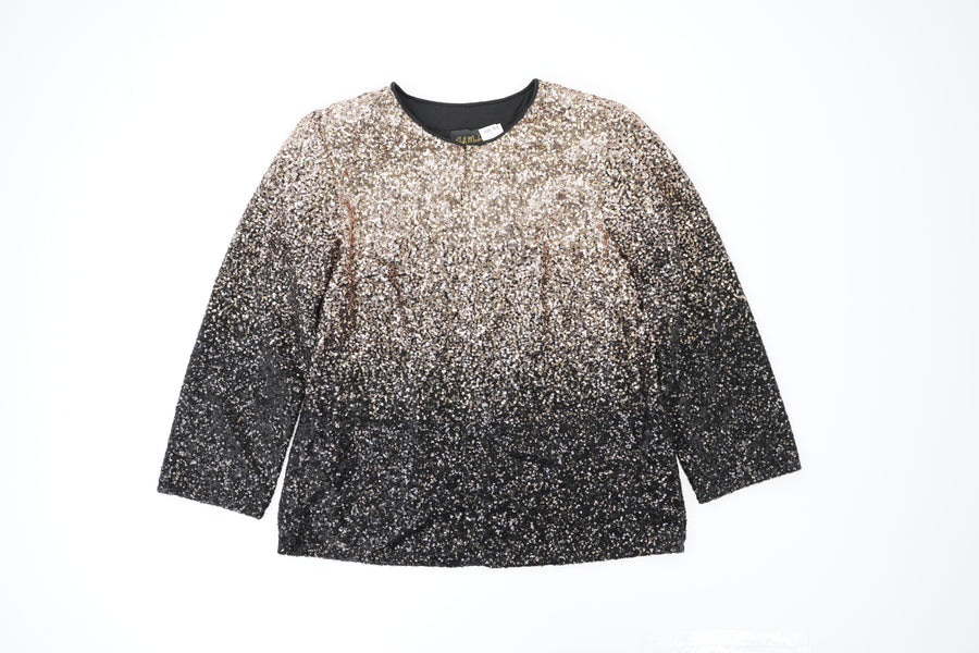 Ombre Sequin Jacket Size M