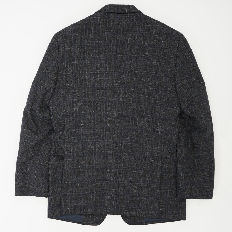 Heritage Comero-Wool Blend Textured Plaid Sports Coat Size 38R