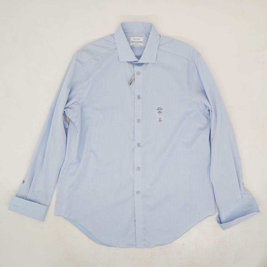 Slim Fit Performance Non-Iron Dress Shirt - Size L