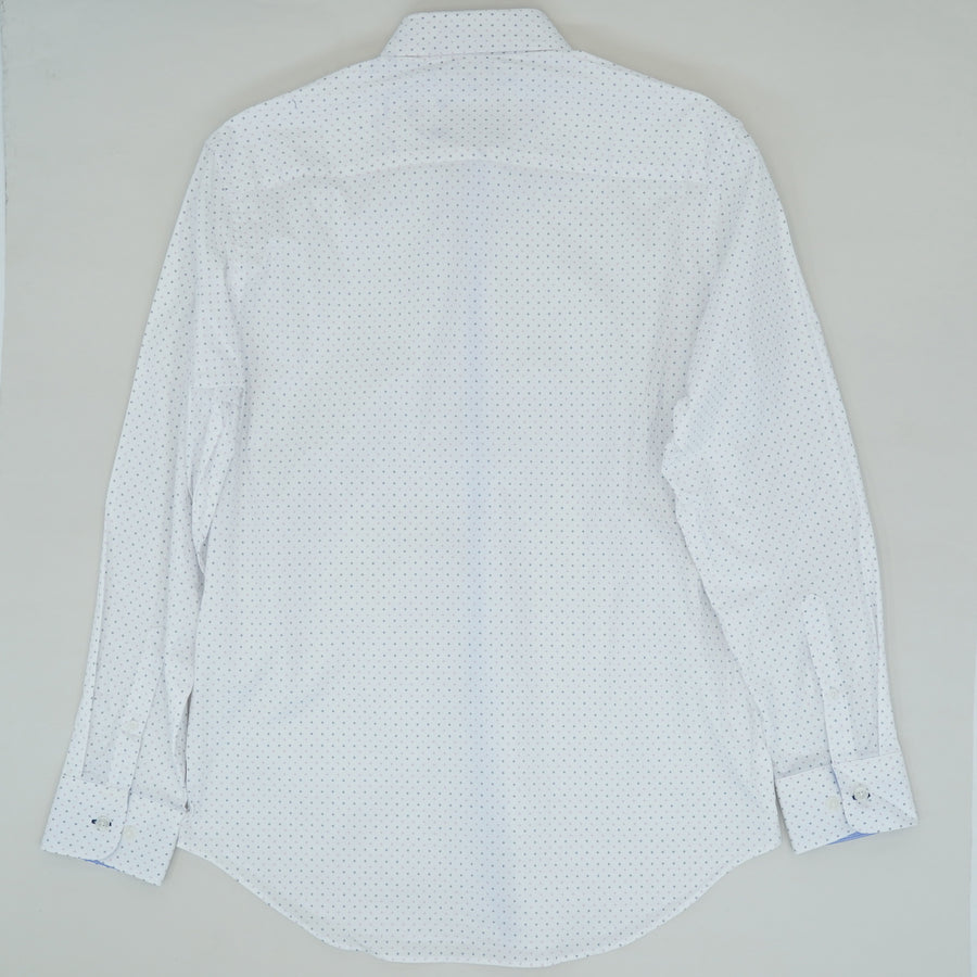 White Dotted Slim Fit Dress Shirt - Size 15.5/33