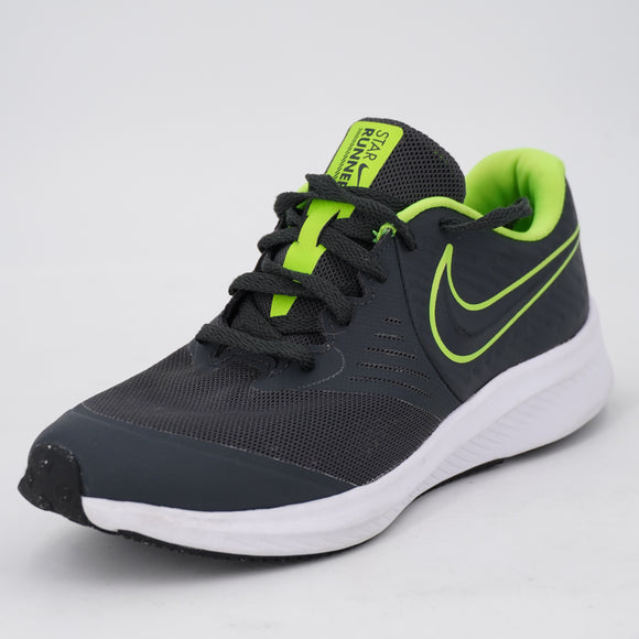 Star Runner 2 Running Shoe Gray And Lime Size 5