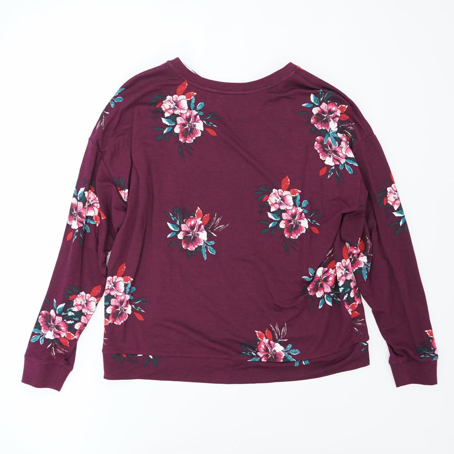 Soft Floral Pullover