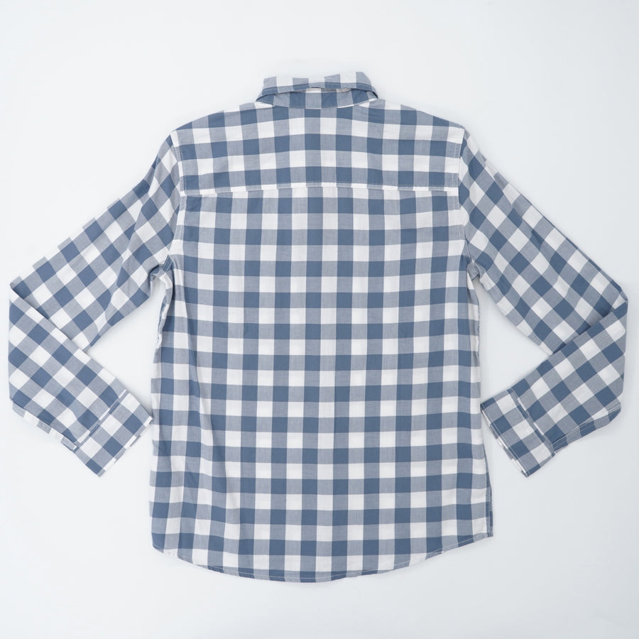 Check Long Sleeve Button Up Size 15/16
