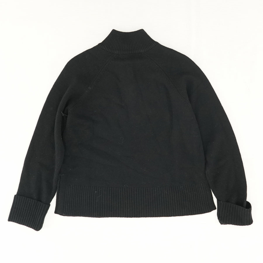 Quarter Zip Mock-Neck Sweater  -Size S
