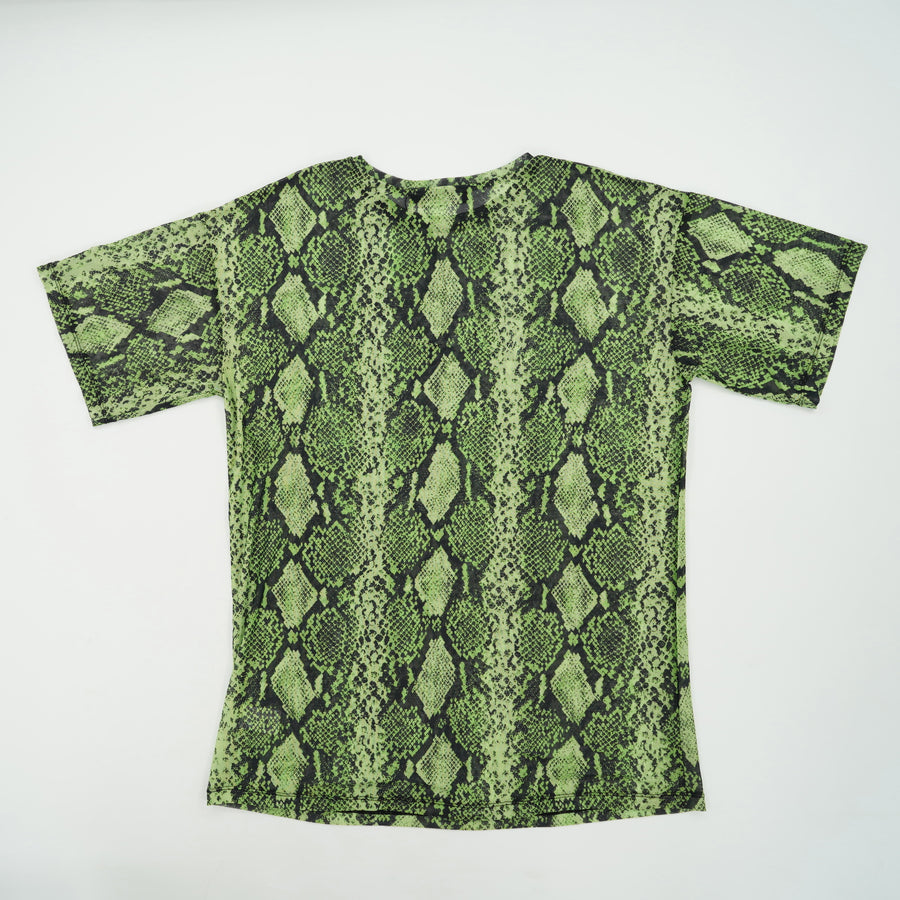 Snake Print Over Size Tee Size S