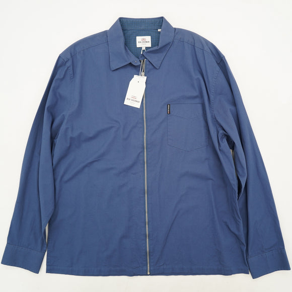Zip-Up Collared Shirt Size 2XL