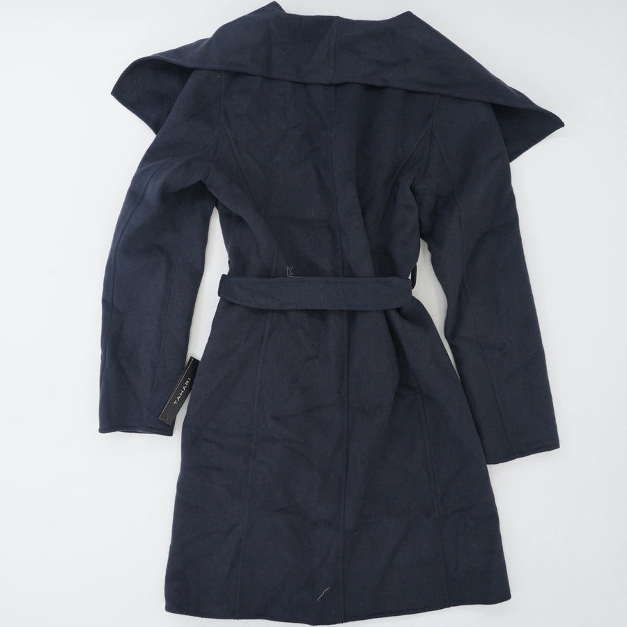 Ellie Wool Blend Wrap Coat Size M