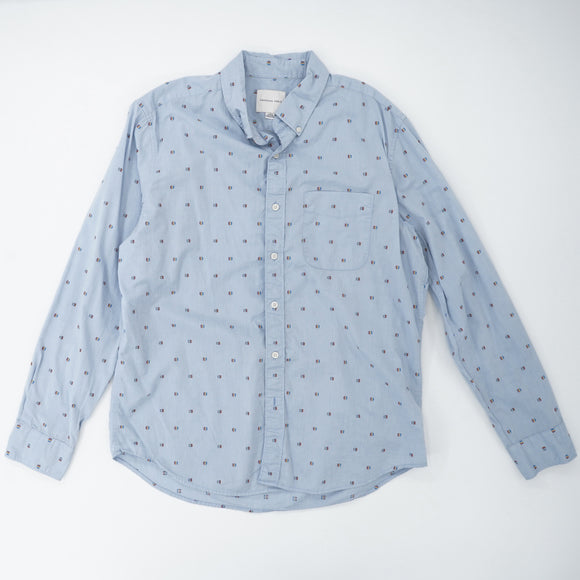 Navejo Dots Button Down Shirt size L