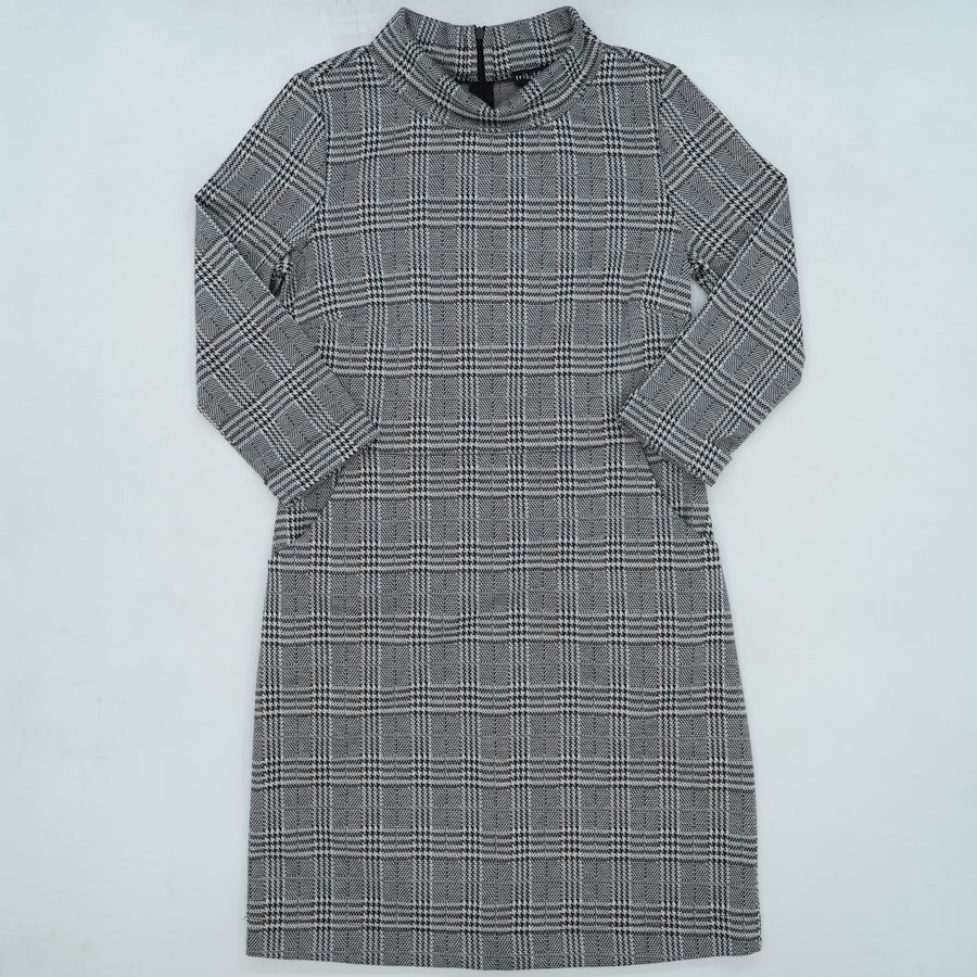 Cuffed Sleeve Houndstooth Dress Size SP