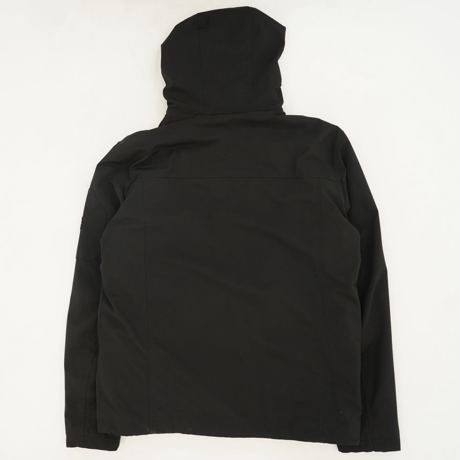 Black Water Resistant Breathable Shell Jacket Size M