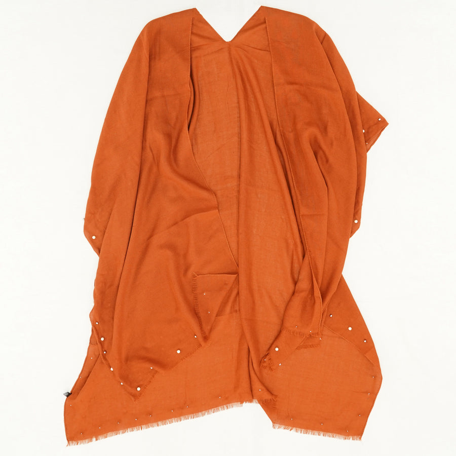 Orange Embellished Shawl Size OS