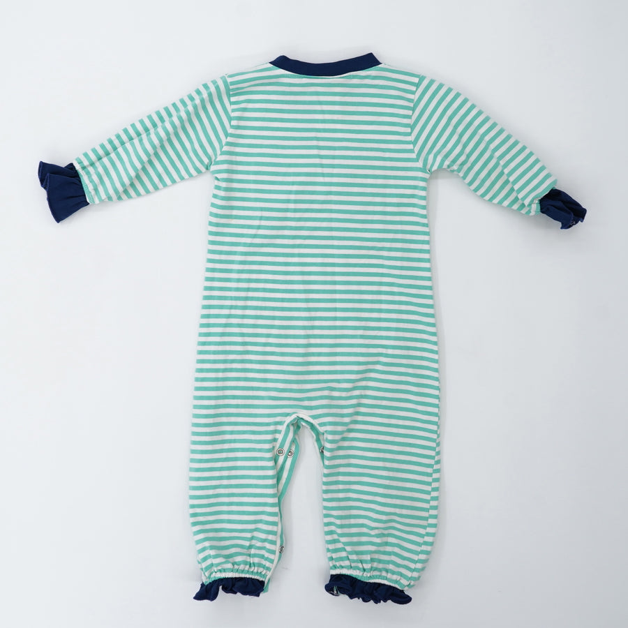 Striped Santa Onesie Size 18M