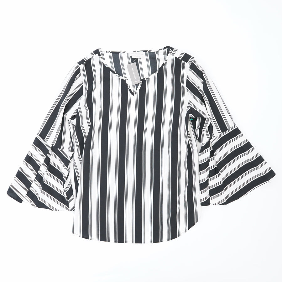 Striped Bell Sleeve Top - Size S/P