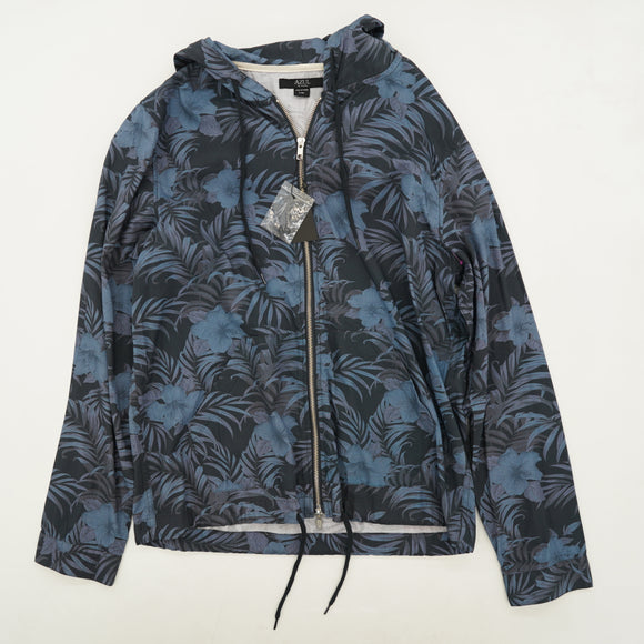 Flowered Full Zip Hooded Jacket Size L
