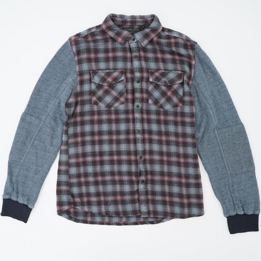 Snap Sweatshirt Flannel Size S