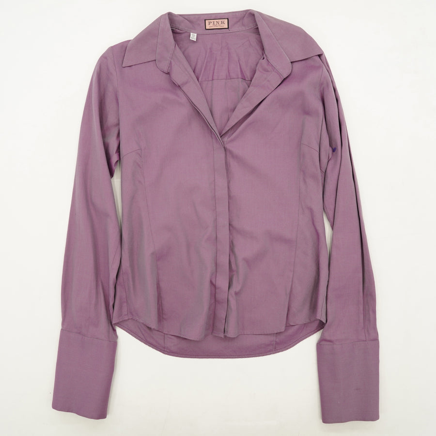 Metallic Purple Button Down Size 12
