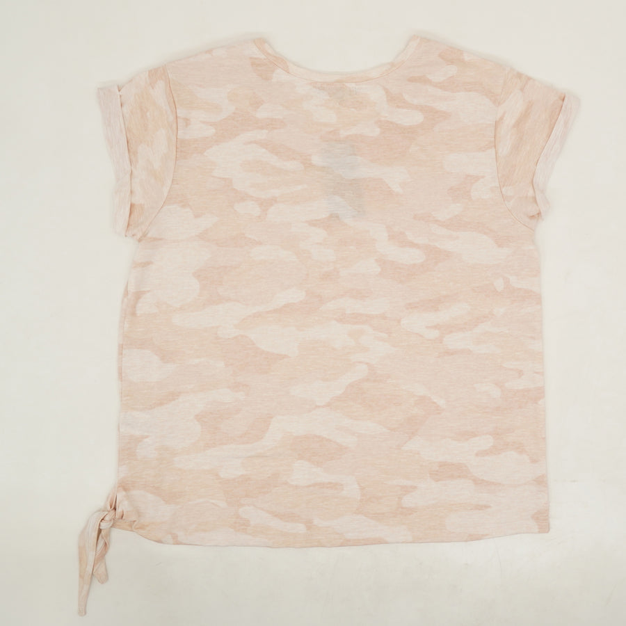 Pink Camo Short Sleeve Blouse - Size XL