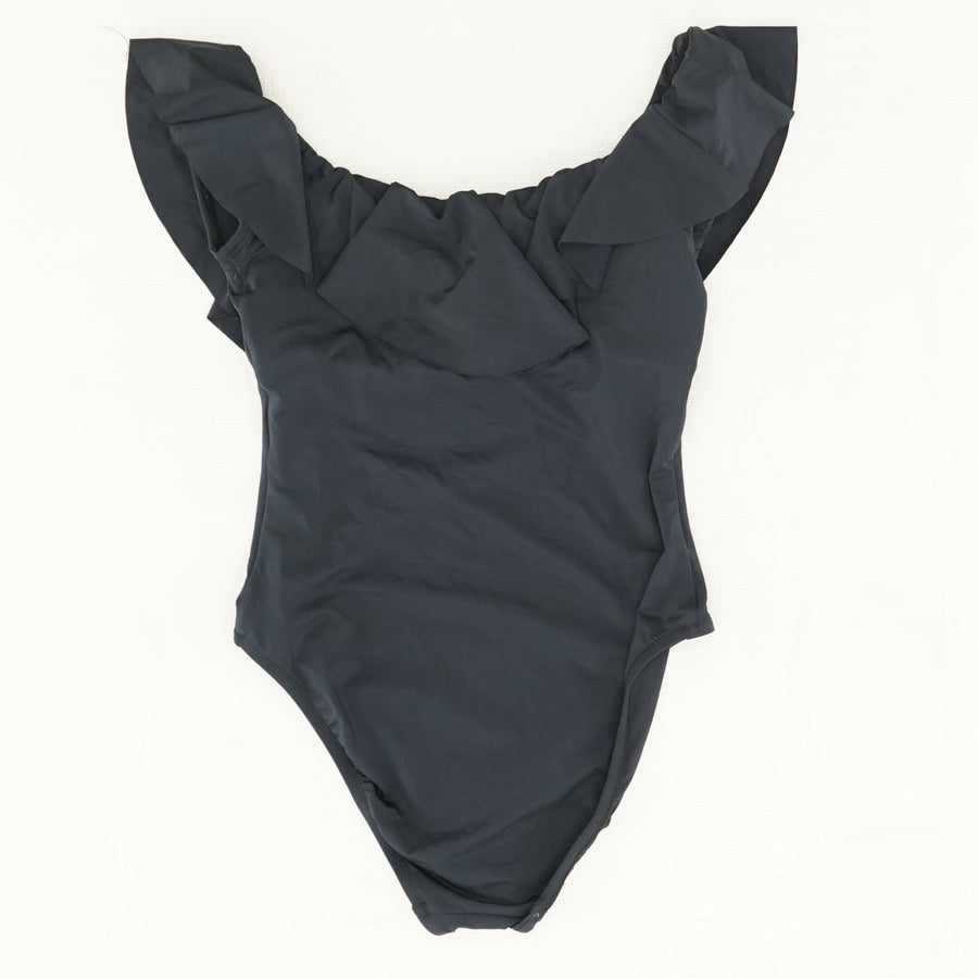 Ruffle Bandeau One Piece Swimsuit Size 8