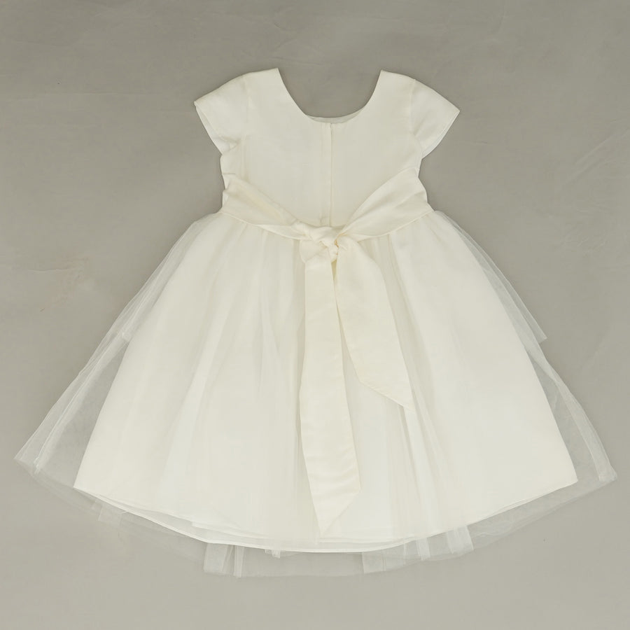 Cap Sleeve Dress with Tulle Skirt Size 4T